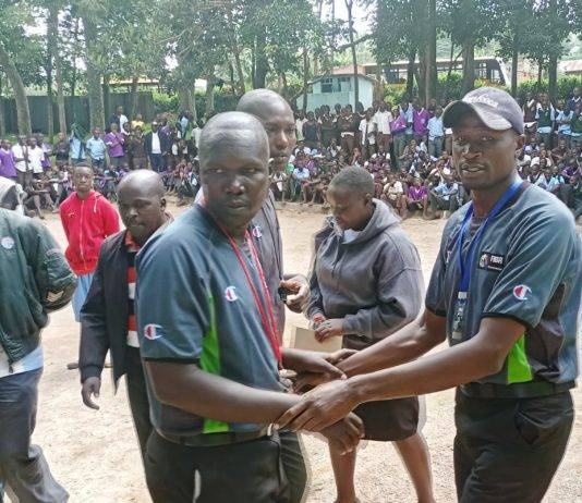 Part of the action at this year's Nyamira County Term One Games Championship.
