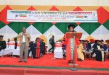 A past graduation ceremony at Dedan Kimathi University.