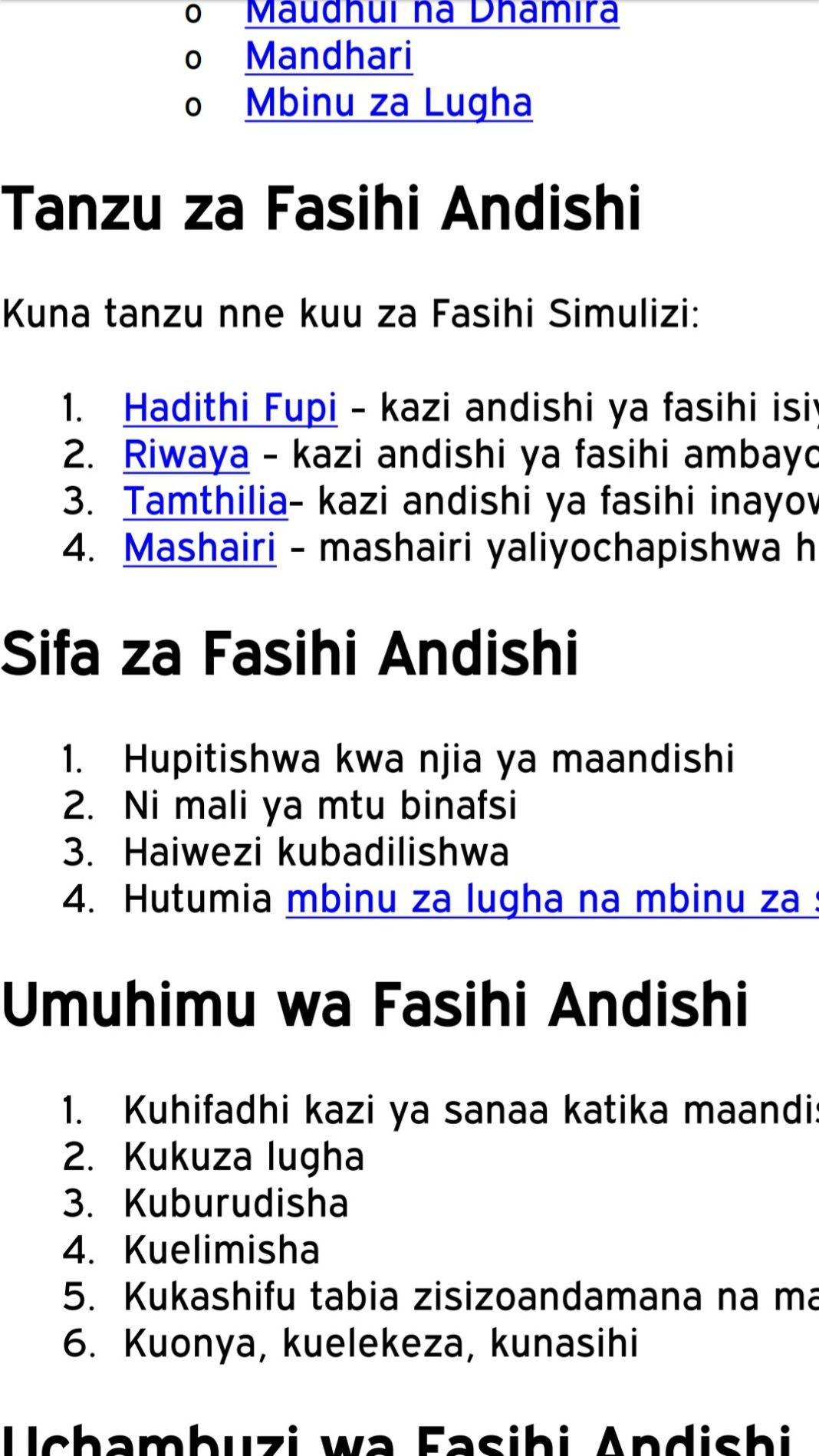Free Kiswahili notes, schemes, lesson plans, Setbooks' guides, Fasihi notes, KCSE Past Papers, Termly Examinations, revision materials and marking schemes.