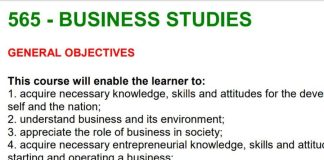 Free Business Studies notes, schemes, lesson plans, KCSE Past Papers, Termly Examinations, revision materials and marking schemes.