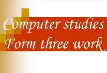 Free Computer Studies notes, schemes, lesson plans, KCSE Past Papers, Termly Examinations, revision materials and marking schemes.