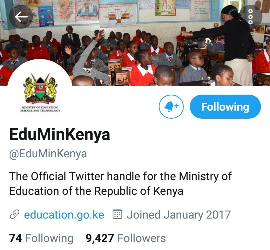 Official twitter account for the Ministry of Education.