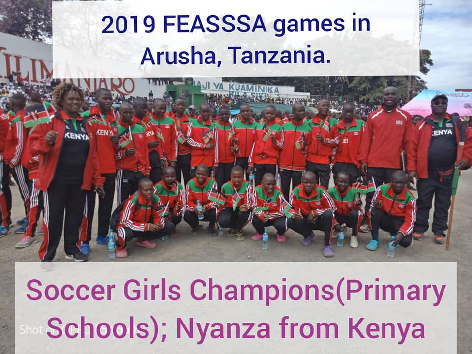 Kenya Secondary Schools Sports Association, KSSA, representatives at a past East Africa games' championship.