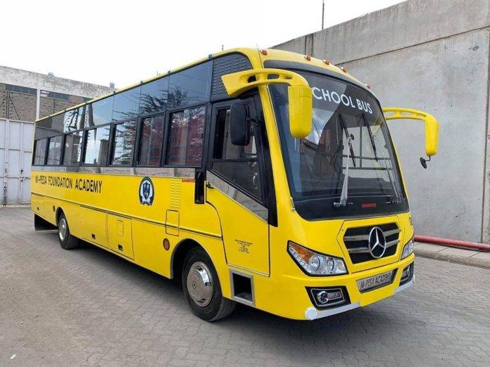 A school bus belonging to Mpesa Academy. The ministry of education is in the process of profiling all school buses in the country.