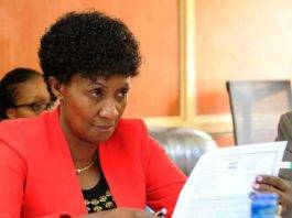 TSC Boss Dr. Nancy Macharia. The commission is urging teachers to contribute towards the covid-19 kitty.