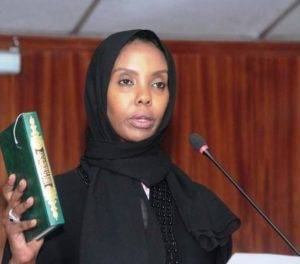 New TSC Commissioner Leila Abdi.