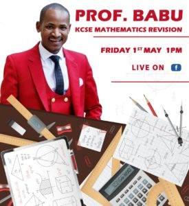 Hon. BAbu Owino prior to his lesson on Facebook.
