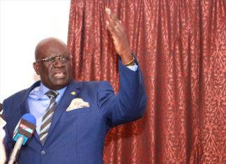 Education cabinet secretary Prof. George Magoha. He has turned a request for the government to supplement fees for learners in private schools.