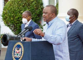 President Uhuru Kenyatta during the Seventh Presidential address on the Coronavirus pandemic: The 8-Point Stimulus Program, Saturday 23rd, May 2020.