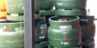 Cooking gas cylinders.