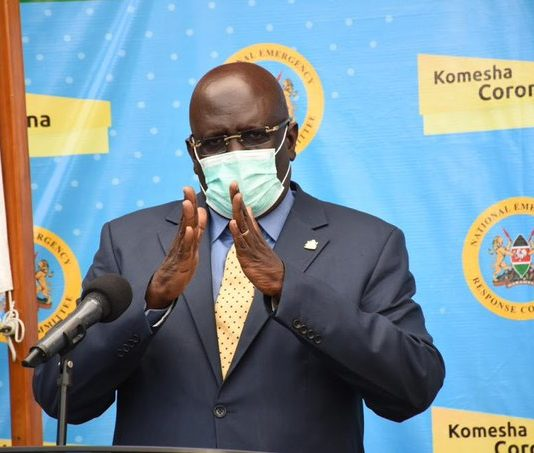 Education CS Prof George Magoha speaks after receiving the interim report from the national covid-19 education response committee. Magoha asked parents to prepare to stay home with children for much longer as schools will only re-open when Kenya has contained the COVID-19 pandemic.