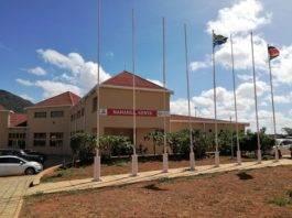 Namanga border point between Kenya and Tanzania.