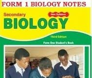 BIOLOGY FORM ONE NOTES FOR HIGH SCHOOLS