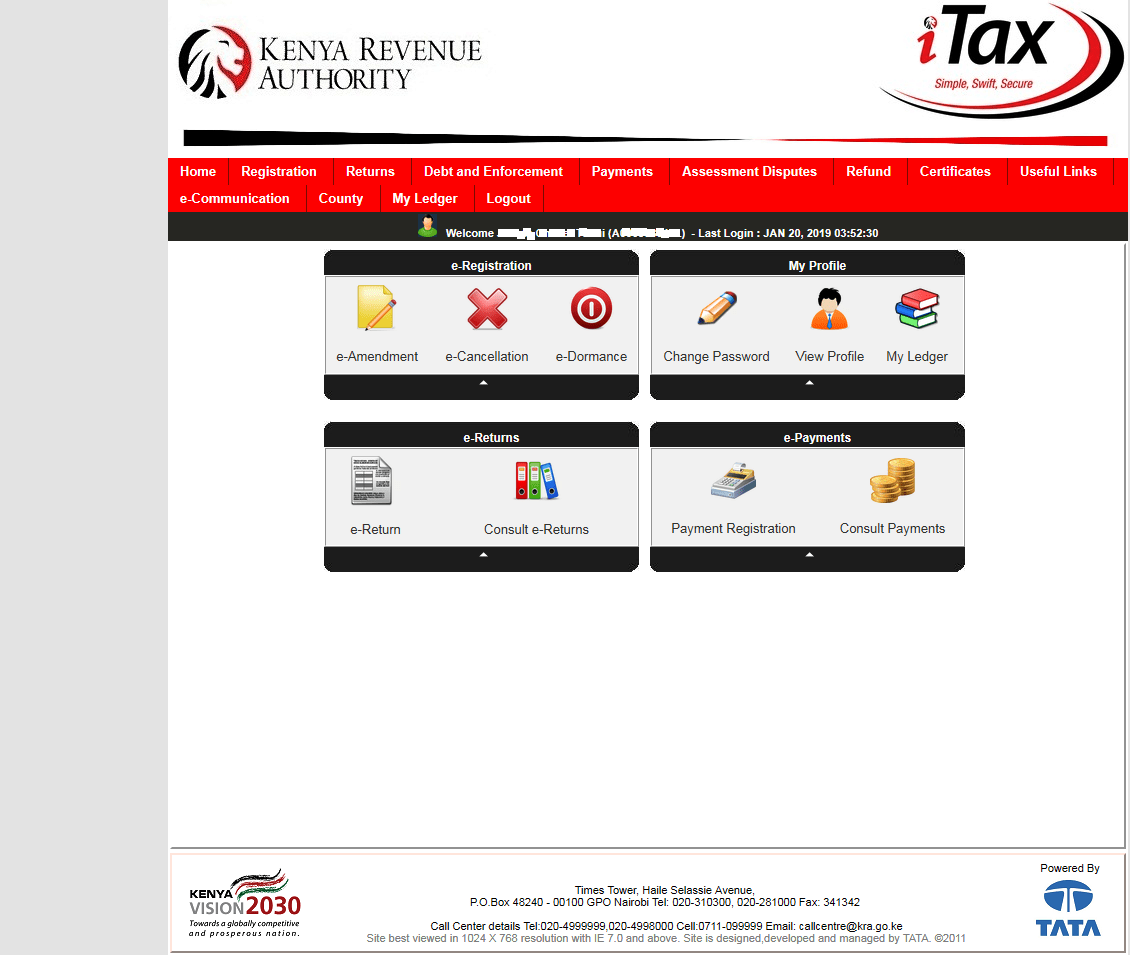 Filing KRA Nil Returns via the KRA iTax Portal.