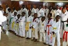 Learners receiving training in Taekwondo. Schools will now be expected to offer training in interpersonal and psychological skills.