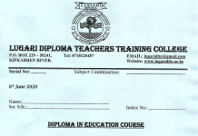 2020/2021 Teachers' Training Colleges (TTCs) applications and admission letters.