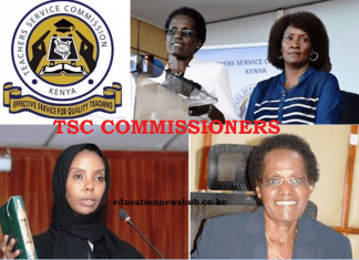 Current list of TSC Commissioners- Kenya.
