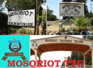 Mosoriot TTC courses, requirements, applications and contacts.