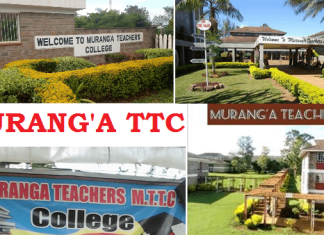 Murang'a Teachers College.