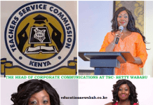 TSC Head of Corporate Affairs, Beatrice Wababu.