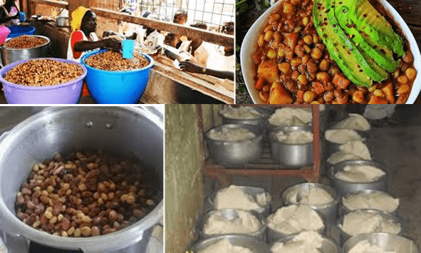 School meals. Learning institutions have started selling food stuffs that may be rotting away in stores.