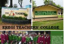 Eregi Teachers' College guide.