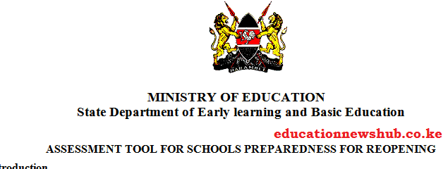 Reopening of schools; Ministry to assess level of preparedness by all schools.