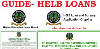 HELB loan application 2021/ 2022.