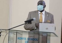Education Cabinet Secretary George Magoha at a past event.