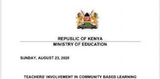 CS Magoha's clarifications on the role of teachers in implementing the Community Based Learning Programme.