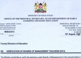 Education Ministry collecting data for BOM teachers.