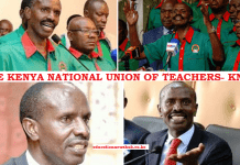 The Kenya National Union of Teachers, KNUT, details.