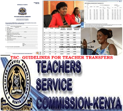 How to get transferred by TSC.