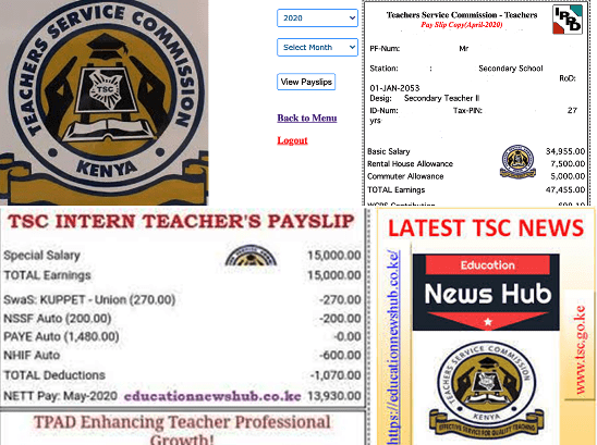 TSC Payslip online. The details on your Payslip.