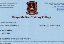 KMTC announces reopening dates for students.
