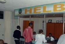 Helb beneficiaries getting assistance at HELB offices in Nairobi.