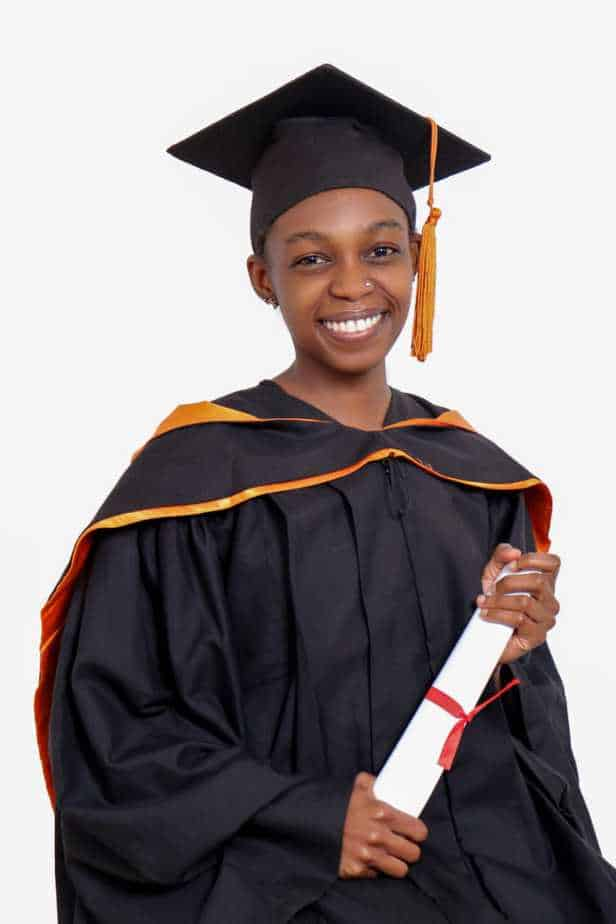 Karen Ngugi in her graduation gown. Indeed, disability in not inability.