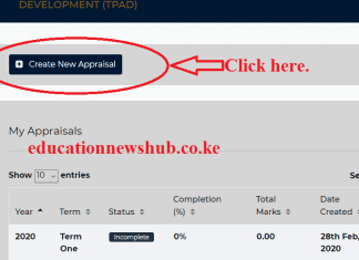 Creating a new appraisal on TPAD 2