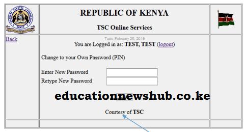TMIS online portal; https://teachersonline.tsc.go.ke/.