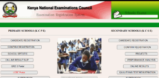 The KNEC LCBE portal for capturing marks online.