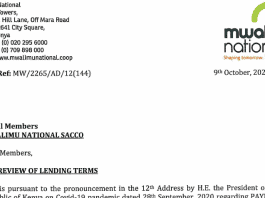 Mwalimu National Sacco reviews lending rates for customers.