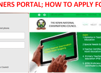 KNEC examiners training portal and application procedure.