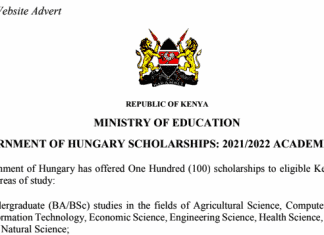Available scholarship opportunities for Kenyan Students.