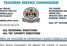TSC Memo to teachers on involvement in politics.