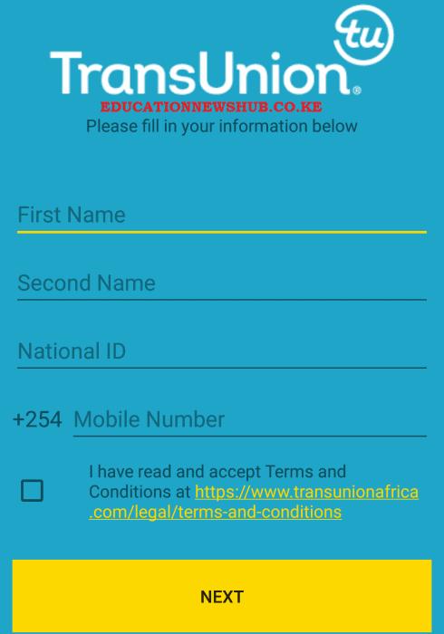 Trans Union Mobile App.