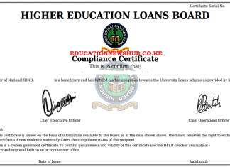 The Helb Compliance Certificate.