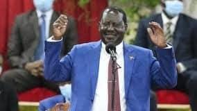 Former Prime Minister Raila Odinga.