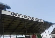 Afraha Stadium in Nakuru County.