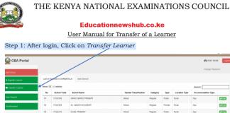 The Knec CBA portal login https://cba.knec.ac.ke/