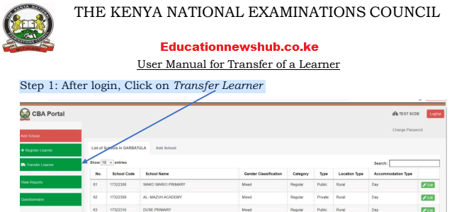 The Knec CBA portal login https://cba.knec.ac.ke/